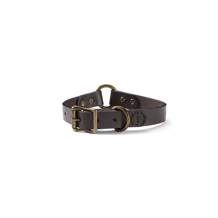 Filson Bridle Leather Dog Collar in Brown