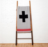 Eco Swiss Cross With Stripes Throw