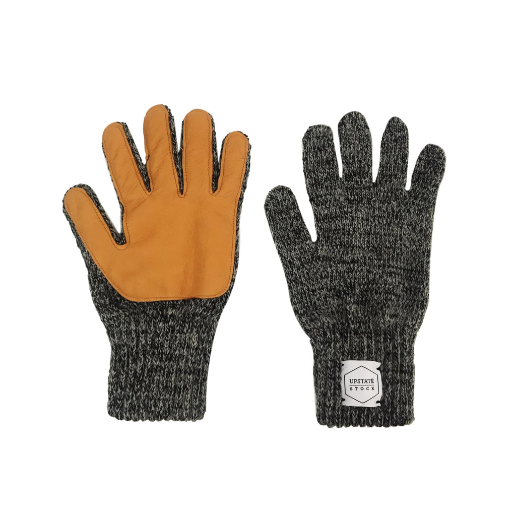 Charcoal Gloves with Deerskin Palm
