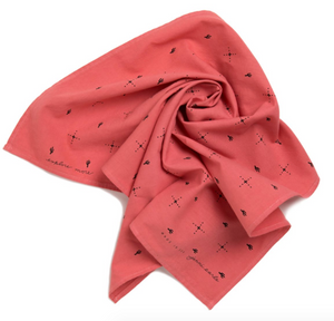 Printed Bandana - Explore More Pink