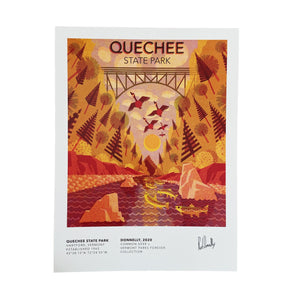 Vermont Parks Collection Print: Quechee State Park