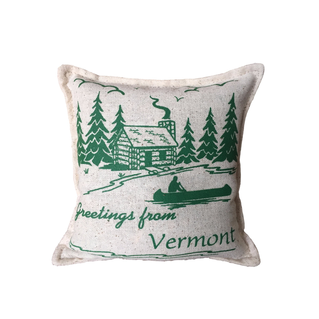 Greetings from Vermont Balsam Pillow