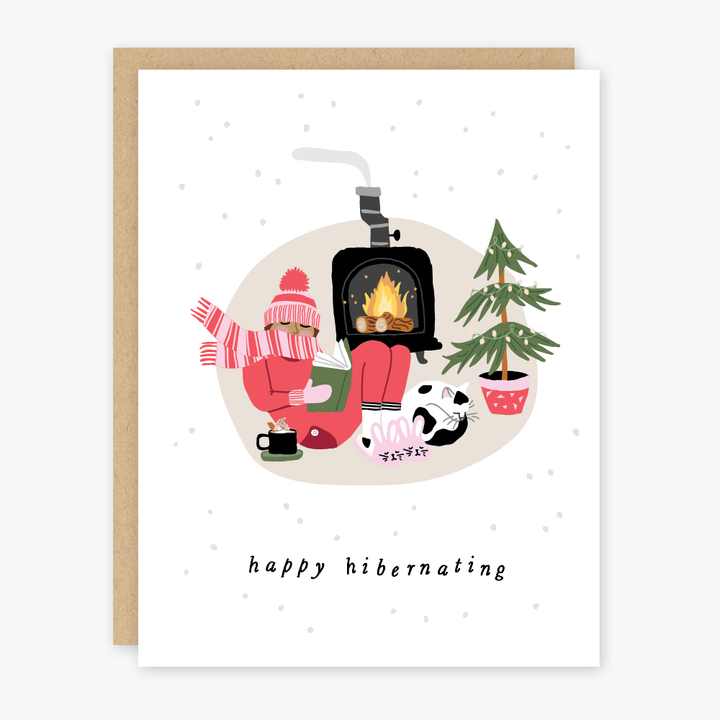 Hibernating Holiday Card - PO7