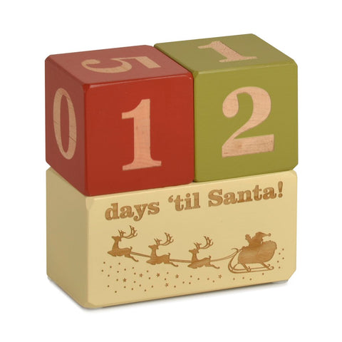 Santa Countdown Blocks