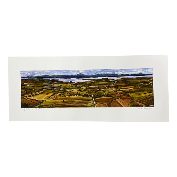 Autumn from Mt. Philo Art Print