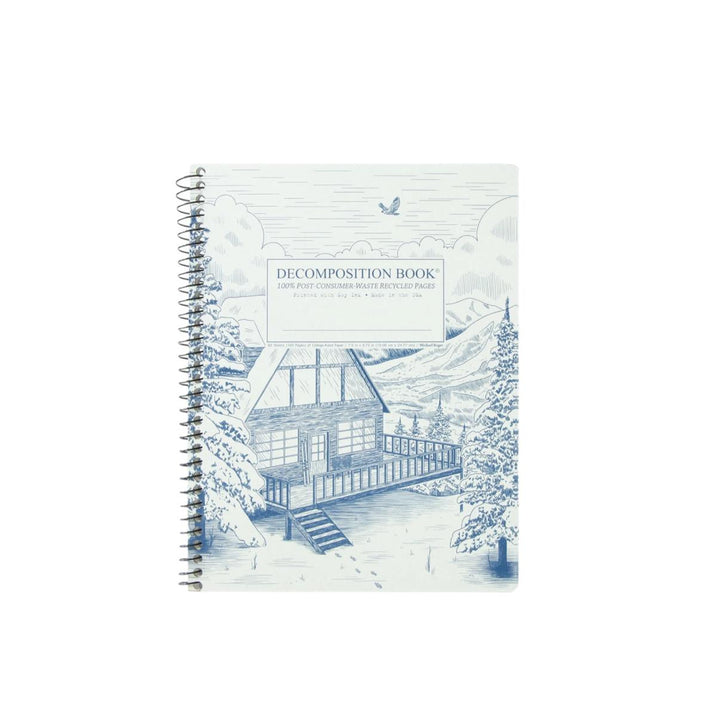 Coilbound Decomposition Lined Notebook - Snowy Chalet