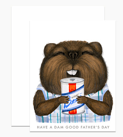Father's Day Beaver Card - DH7