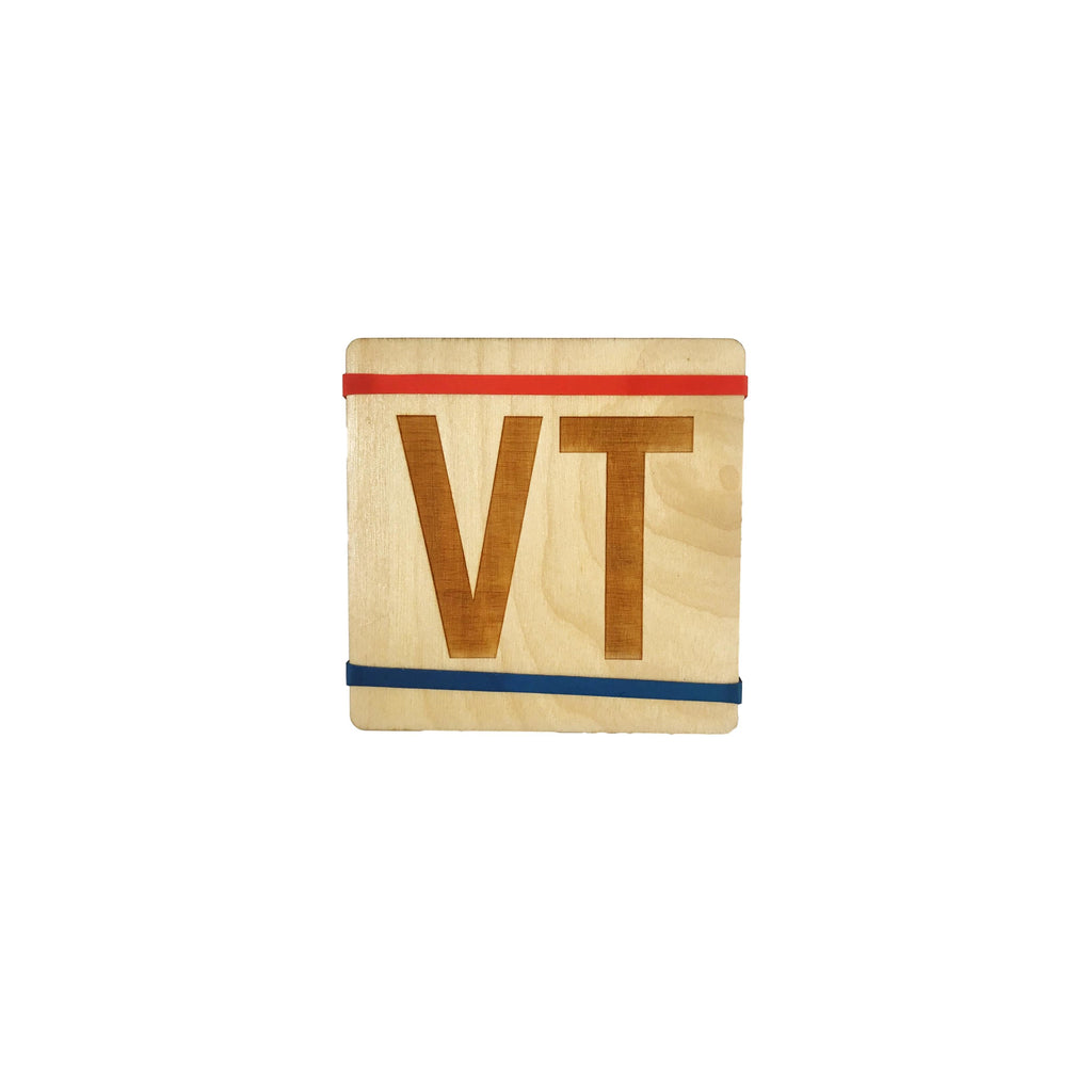 Wooden VT Coasters Set