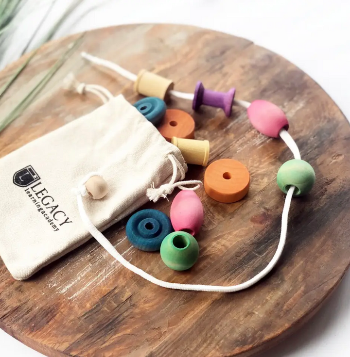 Wooden Bead Stringing Set