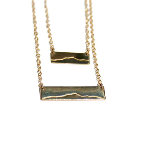 Camel's Hump Bar Necklace -14k Gold Fill