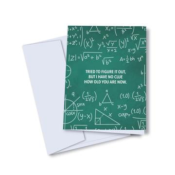 Figure it out Math Age Birthday Card - KD5