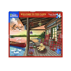 Welcome to the Cabin 1000 Piece Puzzle