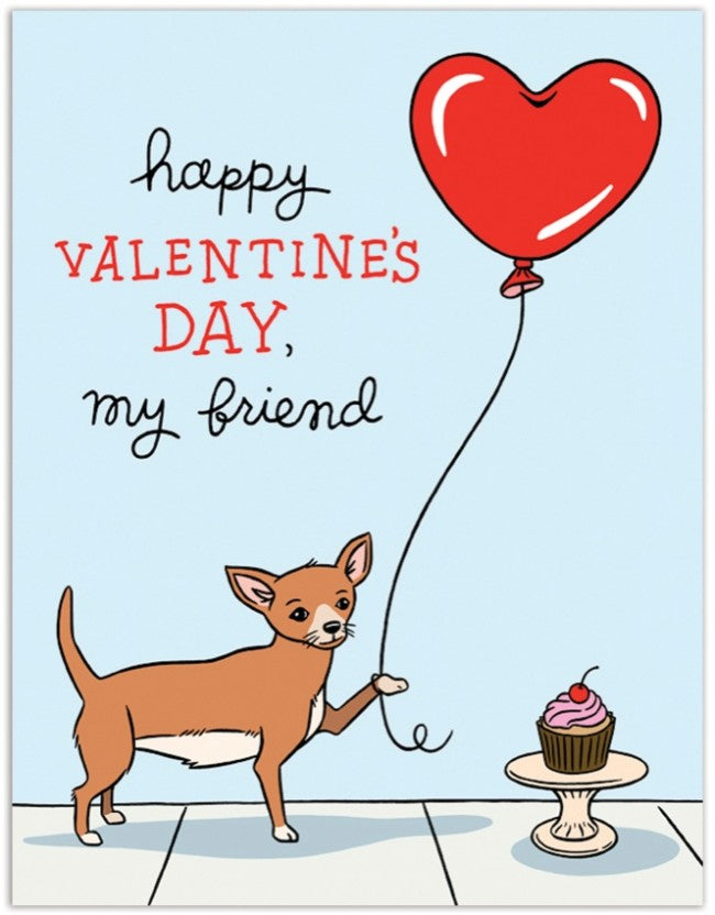 Heart Balloon Friend Valentine Card - F7