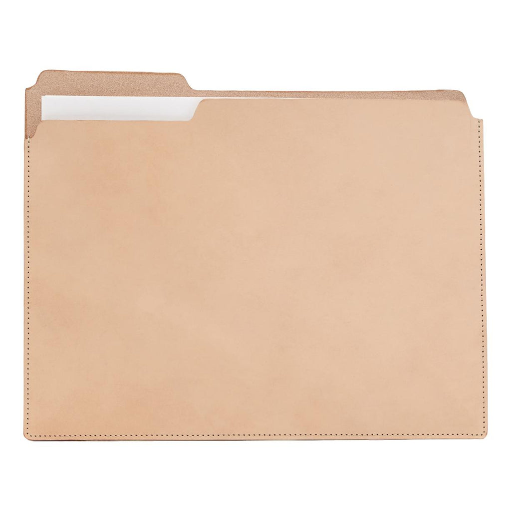 Natural Leather Classic Folder Folio