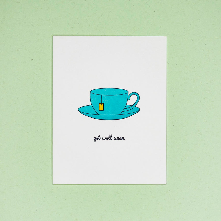 Tea Cup Get Well Card - QB3