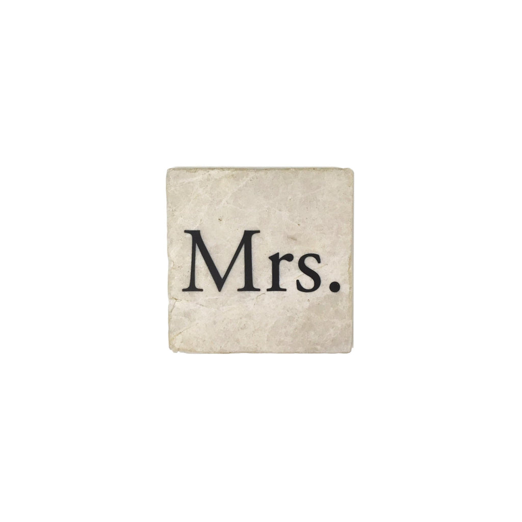 """Mrs."" Marble Coaster - Single"