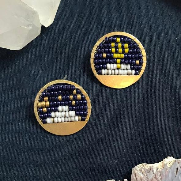 Desert Night Stud Earrings