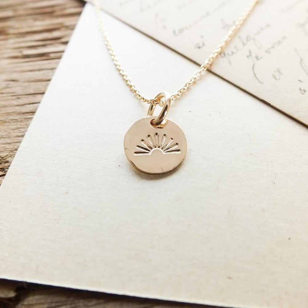 Sunshine Tiny Gold Charm Necklace