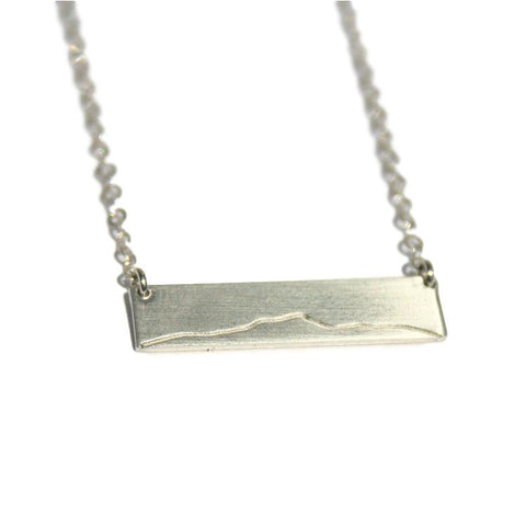 Camel's Hump Bar Necklace - Sterling Silver