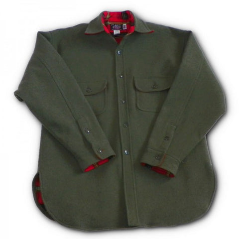 Flannel Lined Wool Shirt Loden