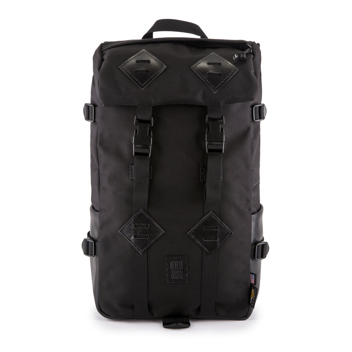 TOPO Designs Klettersack - Ballistic Black/Black Leather