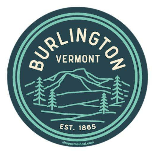 Burlington Camel's Hump Landscape Badge Sticker