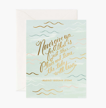 Tide Will Turn Quote Card - RP3