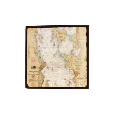 Burlington Map Marble Trivet