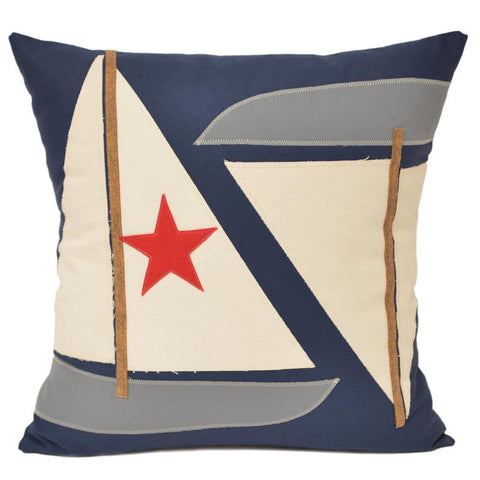 Double Sailboat Pillow 21x21