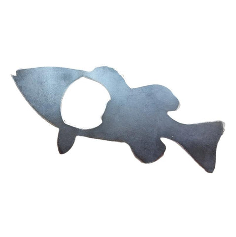 Rustic Steel Bass Fish Bottle Opener