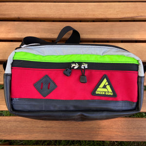 Bicycle Tube Hip Pack Red