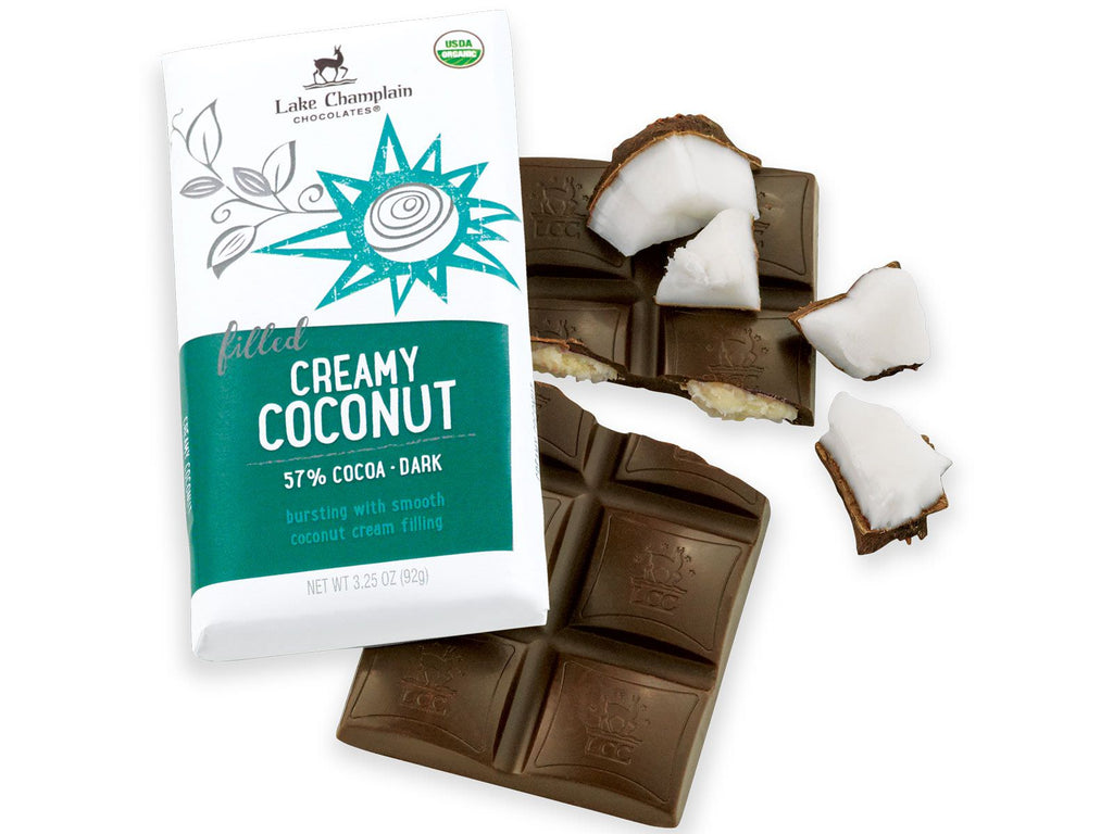 Creamy Coconut Dark Chocolate Bar