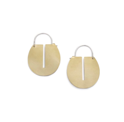 Mini Lié Hoop Earrings - Brass