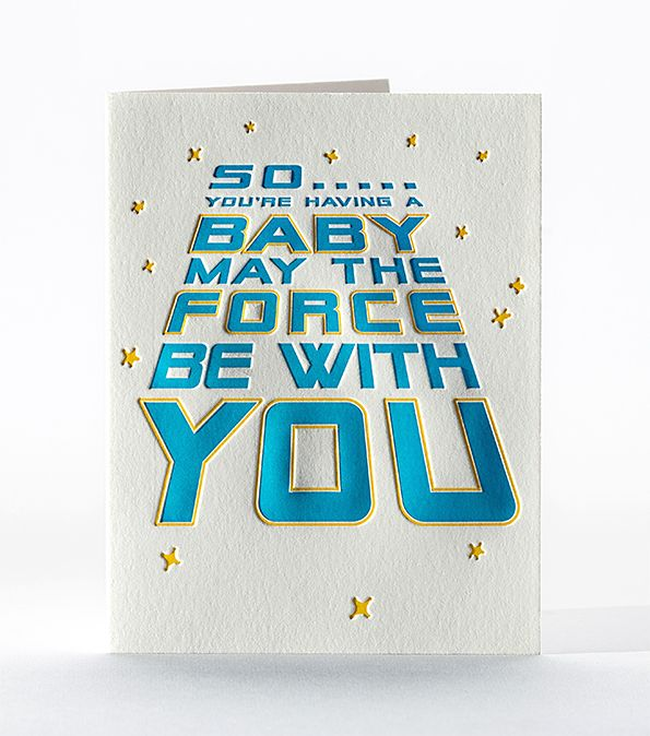 Force be with you baby card - ED4