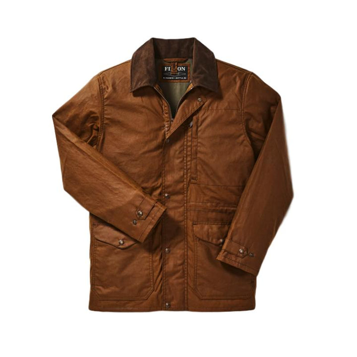 Filson Cover Cloth Mile Marker Coat - Dark Earth