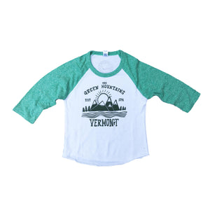 Kid's Green Mountain Baseball Tee