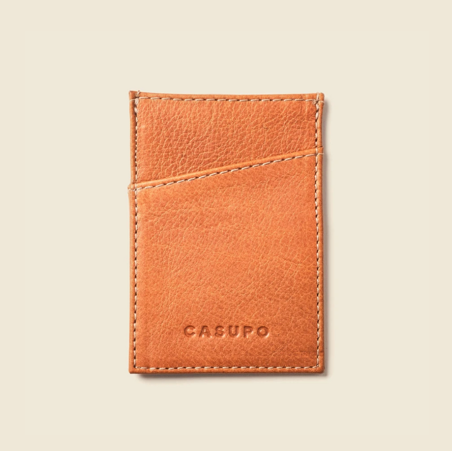 Minimalist Leather Wallet - Whiskey