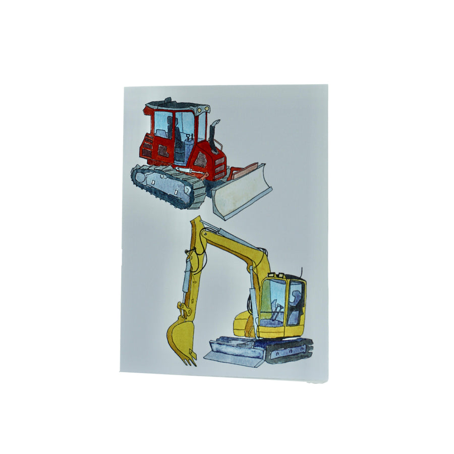 Lydia Ode 2 Tractors Greeting Card