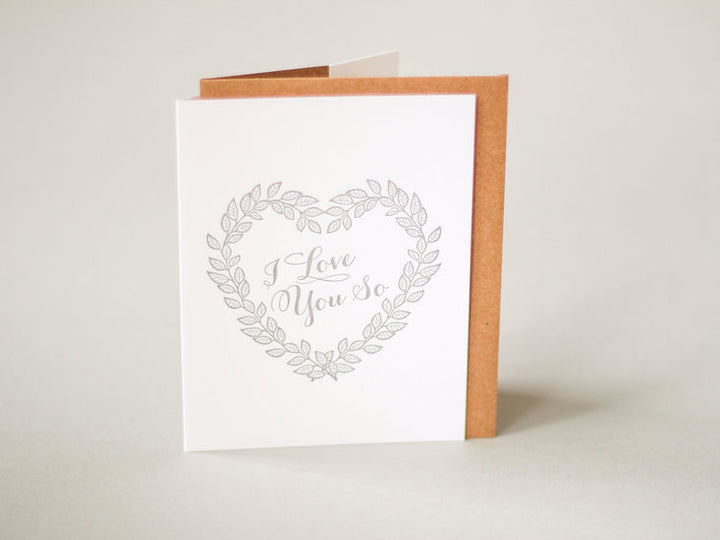 I love You So Heart Card - MC1