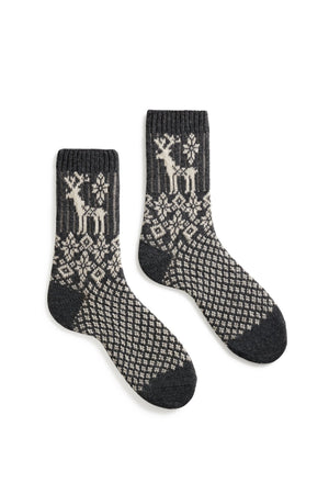 Cashmere/Wool Reindeer Women's Socks