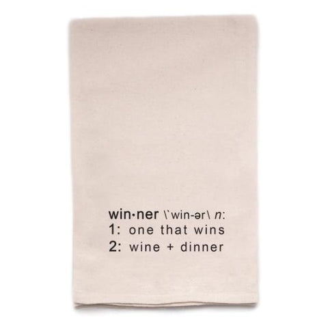Win-ner Tea Towel