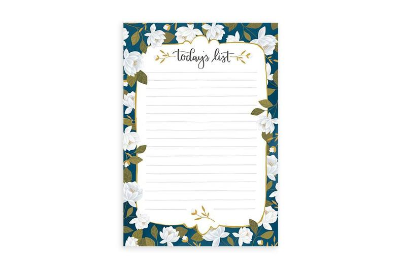 Today's List Floral Notepad