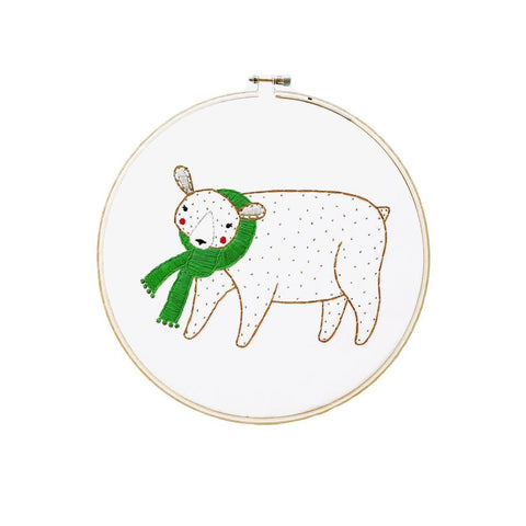 Embroidery Sampler - Merriment Bear