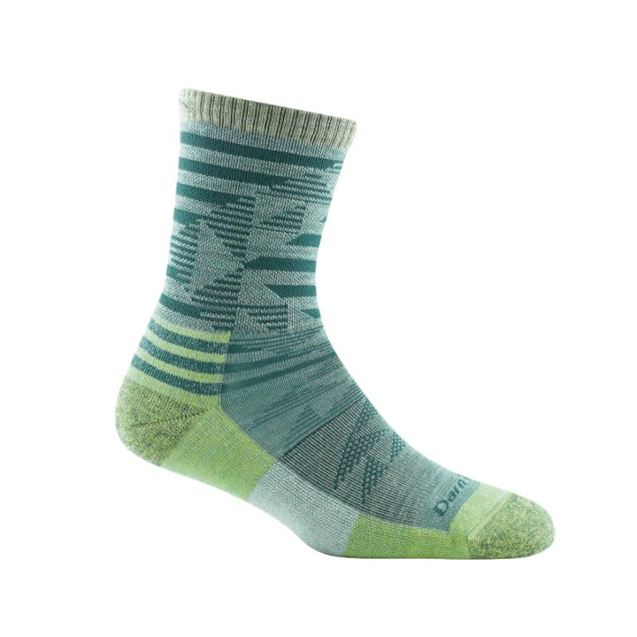 Women's Merino Wool Ceres Micro Crew Light Sock - Aqua
