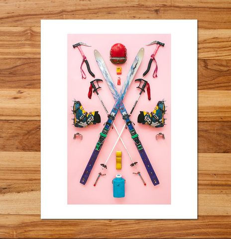 Ski Mountaineer Art Photo Print
