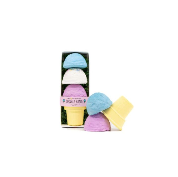 Ice Cream Cone Sidewalk Chalk - Blue