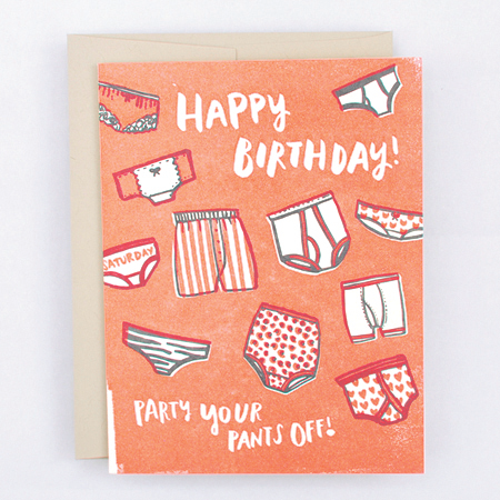Party Your Pants off Birthday Card - 6EP