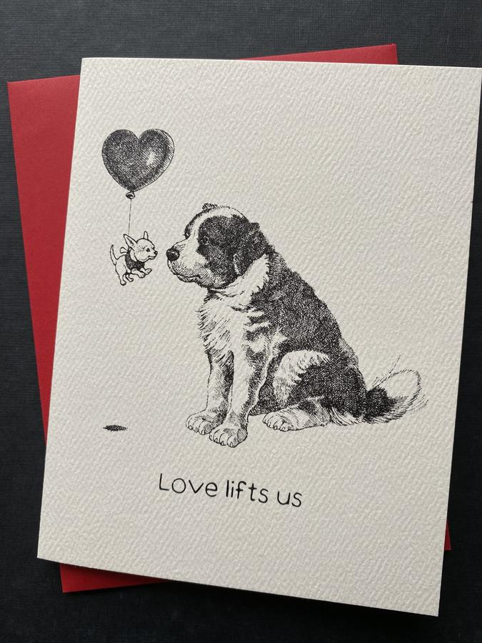 Love Lifts Us Dog Card - AA1
