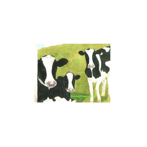 Tiny Framed 4x4 Print - Cows of Vermont