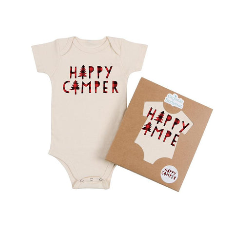 Happy Camper Organic Cotton Baby Bodysuit